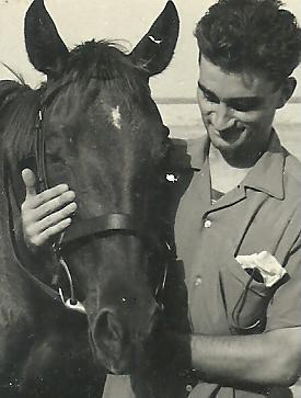 Prince Ronald with Arab stallion in Aden