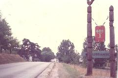 Dambski Arms at entrance to Lubraniec Poland
