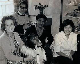 Princess Katherine, dog Peter, and African friends including Anna