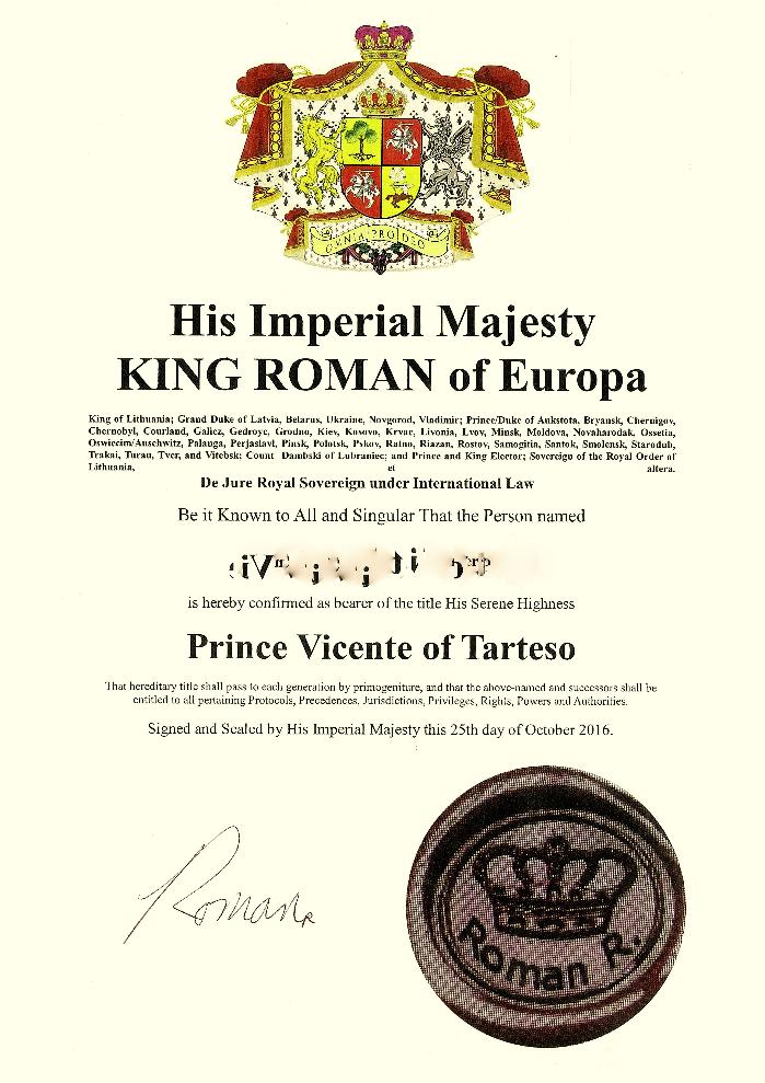Same letters patent of title