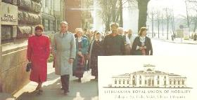 Prince Roman at head of procession to Vilnius Town Hall, Vilnius 1994