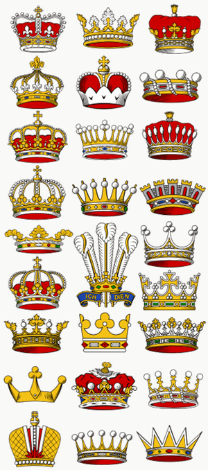 sample crowns and coronets