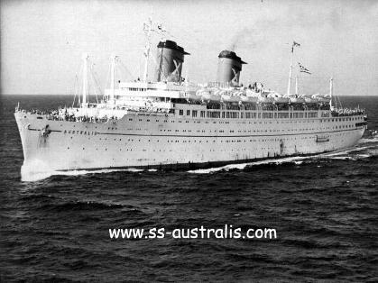 First cruise on SS Australia