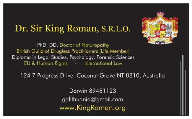 King Roman Business Card