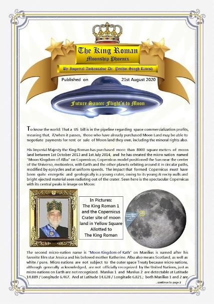the king roman moon moonship