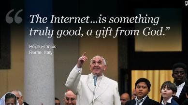 pope francis 1 on the internet