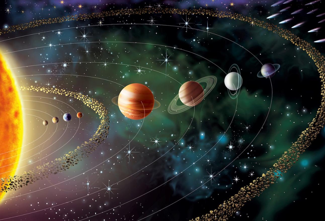 solar system sun planets asteroid belts