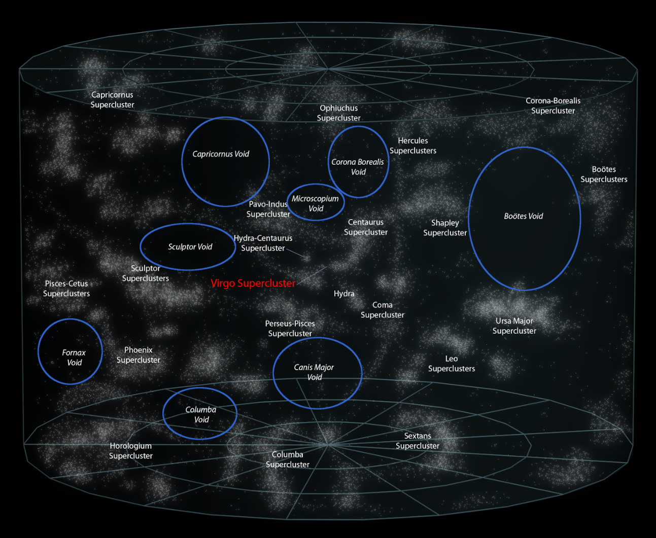 map of galactic voids